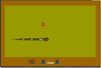 Stupid snake, just grab that apple already...